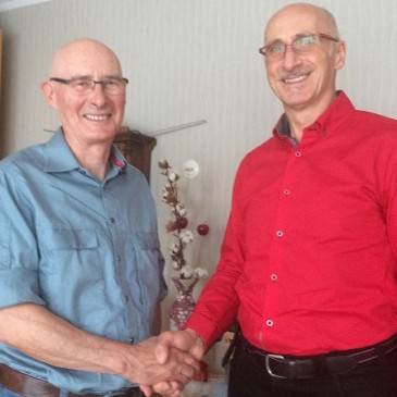 Glückwünsche des Vorsitzenden des Köthener Ortsvereins, Rainer Elze