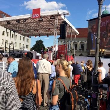 Ausflug nach Magdeburg zur Wahlkampfveranstaltung von Martin Schulz